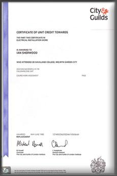 Guild certificate 3